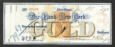 BILL OF EXCHANGE THE BANK OF NEW YORK J. DURAND REVENUE STAMP RN-E4 GOLD 1873