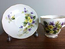 Duchess China Cup & Saucer England Violet & Woodland Flower Pattern