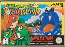 Super Mario World 2 Yoshi Island Nintendo SNES Aus Pal Box BOXED