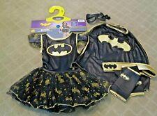 Batgirl Halloween Dress Up Costume Girls Kids size 3-5 Original Packaging EUC