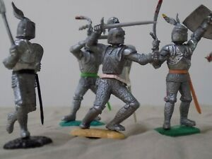 5 Timpo Knights from the 60's excellent