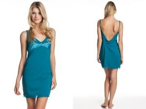 Calvin Klein CK Women's Naked Glamour Sleep Chemise Capri Water S2495 Jade NEW