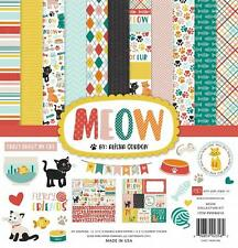 Echo Park Paper MEOW 12x12 Collection Kit Cat Kitten Kitty Scrapbook Pocket Page