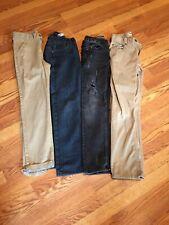 Lot Of Boys Jeans Levis Arizona Etc Size 12 4 Pair Of Pants Excellent Childrens
