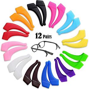 12 Pairs Glasses Hooks Ear Eyeglass Strap Holder Eyewear Retainer Silicone Anti