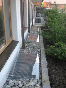 AcryS 90 x 30 - Lichtschachtabdeckung - Regenschutz für Ihren Kellerschacht
