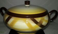 Vintage Vernonware  Covered Serving Bowl USA Organdie Vernon Calif Pottery