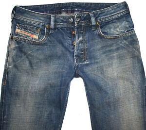 Diesel Herren Jeans ZATHAN Regular Bootcut W29 L32 blau