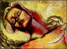 © ART - He touched my Soul Angel Surreal surrealist Original Artist Print by Di