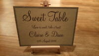A4/A5 Personalised Vintage Sweet Table Wedding Sign