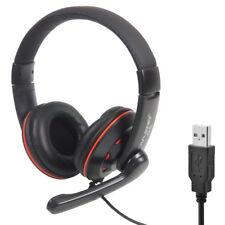 USB Headset Stereo Gaming Headphone Earphone Microphone Mic Ear Cup