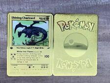Custom Neo Destiny First Edition Shining Charizard Gold Metal Pokemon Card