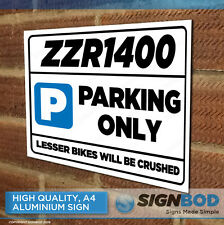 ZZR1400 Owner Parking Metal Sign Gift - Birthday Present