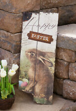 SALE /Country new rustic large Wood HAPPY EASTER sign
