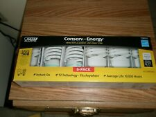 Conserv Energy 100W Replacement Bulbs, Uses Only 23W, 6 Pk