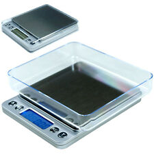 2000g x 0.1g Digital Scale Precision Scale for Jewelry Diet Shipping-Silver