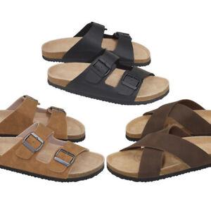 Ladies Womens Mens Classic Mules Sandals Black Brown Shoes Size 7 8 9 10 11 12