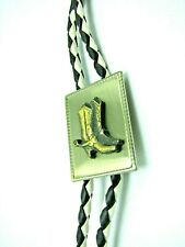 Cowboy Boot W/Stirrups Vintage Bolo The Square Buckle