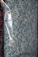 vintage fabric Aqua teal roses 114 cm x 200 cm craft fabric sewing fabric
