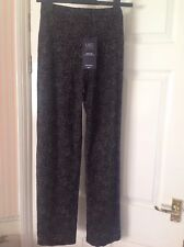 BNWT M&S COLLECTION WIDE LEG Black Mix Trousers Size 8 RRP 29.50