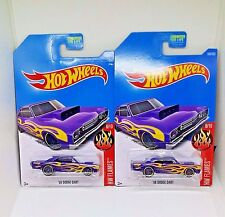 2017 Hot Wheels '68 Dodge Dart - No. 160 - Metalflake Purple - Set of 2
