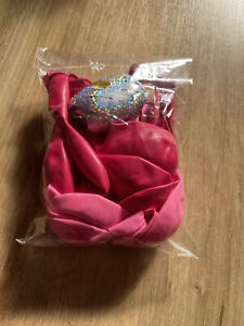 Girls Pink Party Balloons & Multicoloured Ribbon