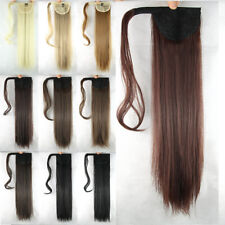 Straight Magic Hair Wrap Pony Tail Human Hair Ponytail Clip in Hair Extensions