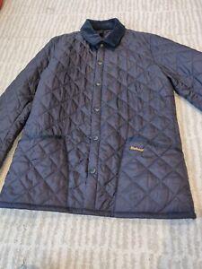 Mens Barbour Heritage Liddesdale quilted jacket navy size medium