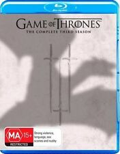 GAME OF THRONES (COMPLETE SEASON 3 - BLU RAY SET SEALED + FREE POST)
