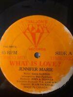 "Jennifer Marie-What Is Love? 12"" Vinyl Single LOVERS ROCK REGGAE"
