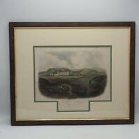Antique Aquatint Lithograph Karl Bodmer Penitentiary Near Pittsburgh Framed