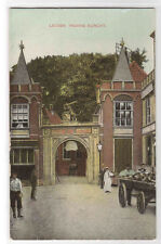 Ingang Burcht Leiden Netherlands 1910c postcard
