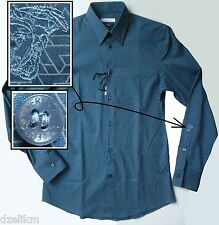 NWOT $325.00 Versace Collection Graphic Print Sport Shirt Size 37 / 14.5 (XS/S)