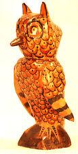 OWL = HAND CARVED = FOLK ART