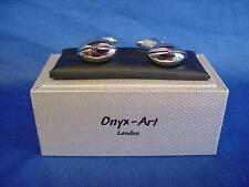 CUFFLINK SET - RUGBY BALL - IDEAL PRIZE TROPHY GIFT FOR UNION OR LEAGUE (CK70)