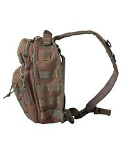 Mini Molle Recon Shoulder Bag Green/Red Tactical Satchel Military Army Security