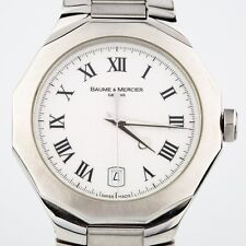 Men's Baume & Mercier Stainless Steel Riviera Quartz Watch w/ Date Feature