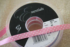 2 Metres Berisfords Satin Polka Dot Spotty Ribbon 10mm Various Colours - 2m