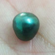 8.7mm South sea genuine peacock green blue near round loose pearl full drilled
