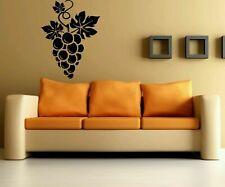 Wall Vinyl Sticker Decal Mural Design Wine Grapes Kitchen decor art print #377
