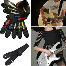 Acoustic Folk Electric Guitar Strap Bass Nylon Adjustable Belt Durable Strip Sig