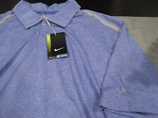 MENS NIKE DRI FIT SHORT SLEEVE POLO SHIRT SIZE 2XL XXL BLUE/GRAY  NWT