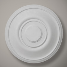"Plaster Ceiling Rose Small Plain Darley 450mm/ 18"" Handcrafted"
