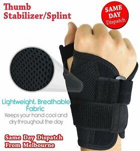 Thumb Stabilizer Brace Support Splint Arthritic Sports Thumb Wrist Immobiliser