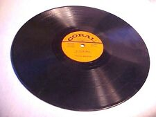 Theresa Brewer CORAL 78 RPM Bo Weevil & A Tear Fell Vinyl Record 89249 & 81250.
