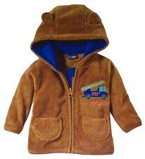 Baby Kapuzen Teddy-Jacke/Fleecejacke Braun Größe 74/80