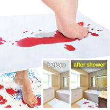 Blood Bath Mat: Color Changing Bloody Mat Footprint Turns Red When Wet