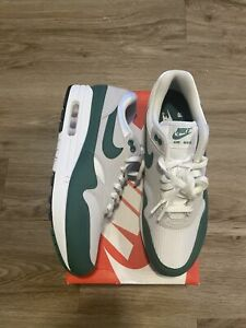 Mens Nike Air Max 1 Anniversary Running Lifestyle Shoes Size 10 Evergreen Aura