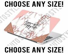 Happy Mind Happy Life Marble Laptop Skin Decal Sticker Tablet Skin Vinyl Cover