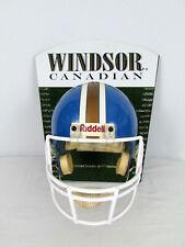 Vintage Windsor Canadian Whisky Football Helmet Advertising Sign Mancave Decor